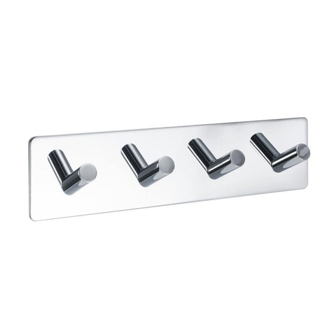 Bathroom base Base 200, with four racks, polished chrome