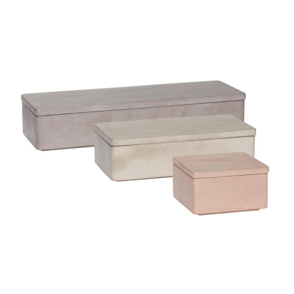 Storage box Lexi, set of three Hübsch Accessory - Nordic Design Home
