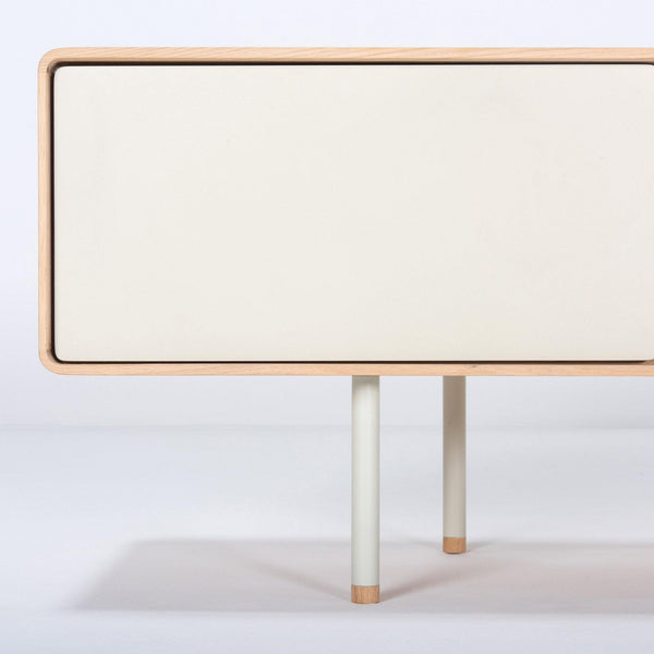 Chest of drawers / TV scale Fina 180cm, white oil / beige