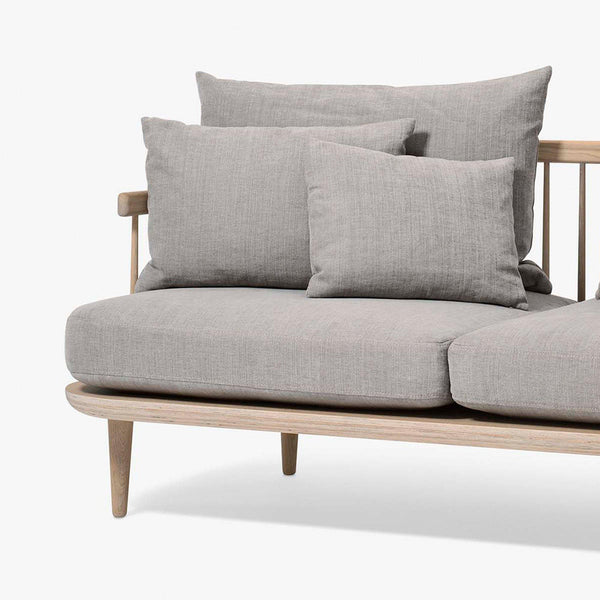 Sofa Fly SC12, three-seater, different fabrics and wood finishes
