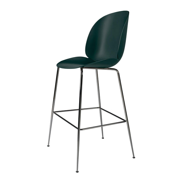 Bar chair Beetle seat height 73cm, with metal chair legs, different colors and finishes