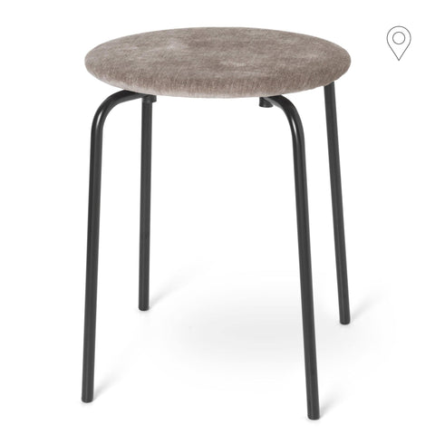 Stool Herman, textile, different colors and leg finishes