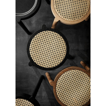 Stool Pal, French rattan wicker / various wood finishes - Nordic Design Home