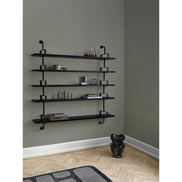Shelf Démon with five shelves and three supports, different finishes and widths, 215cm / 275cm - Nordic Design Home