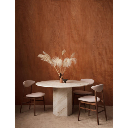 Dining table Epic, Ø130cm, White Travertine