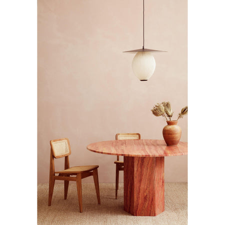 Dining table Epic, Ø130cm, Red Travertine