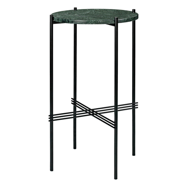Side table TS, black frame / different surface finishes, Ø40 - Nordic Design Home