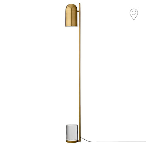 Floor lamp Luceo, brass