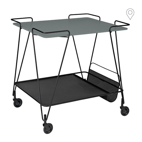 Drinking trolley Matégot, gray / black