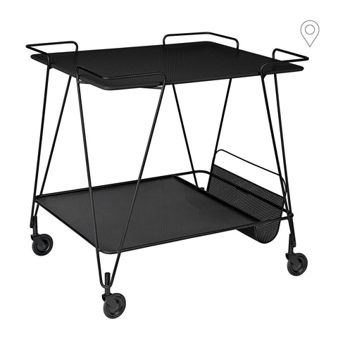 Drinking trolley Matégot, black / black
