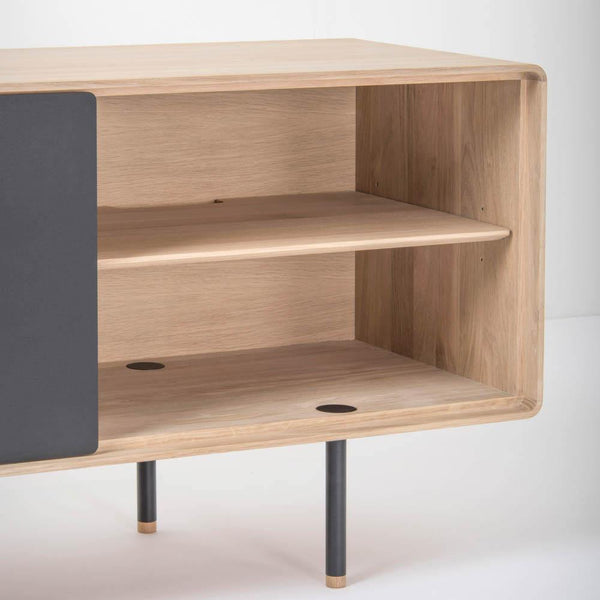Chest of drawers / TV scale Fina, gray, 180cm, different finishes - Nordic Design Home