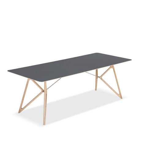 Dining table Tink black, 180x90 natural oil