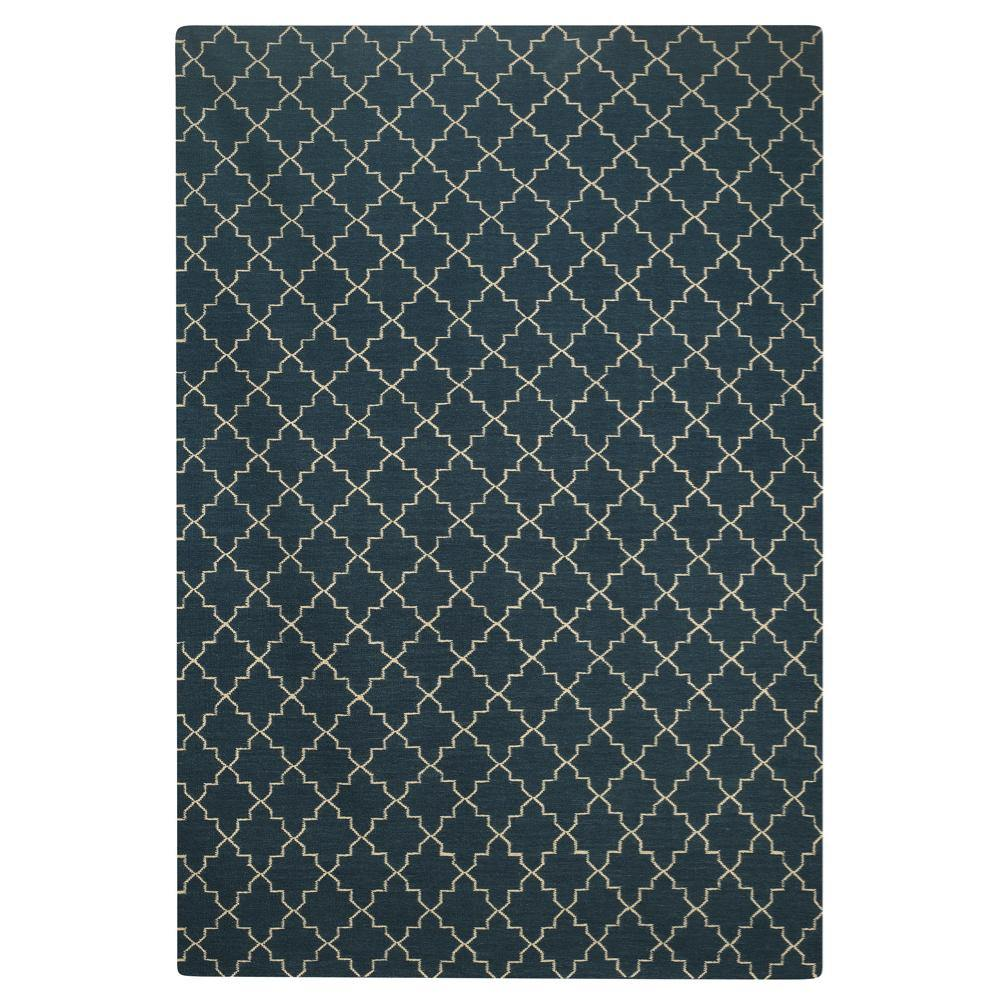 Carpet New Geometric, blue / white, different sizes