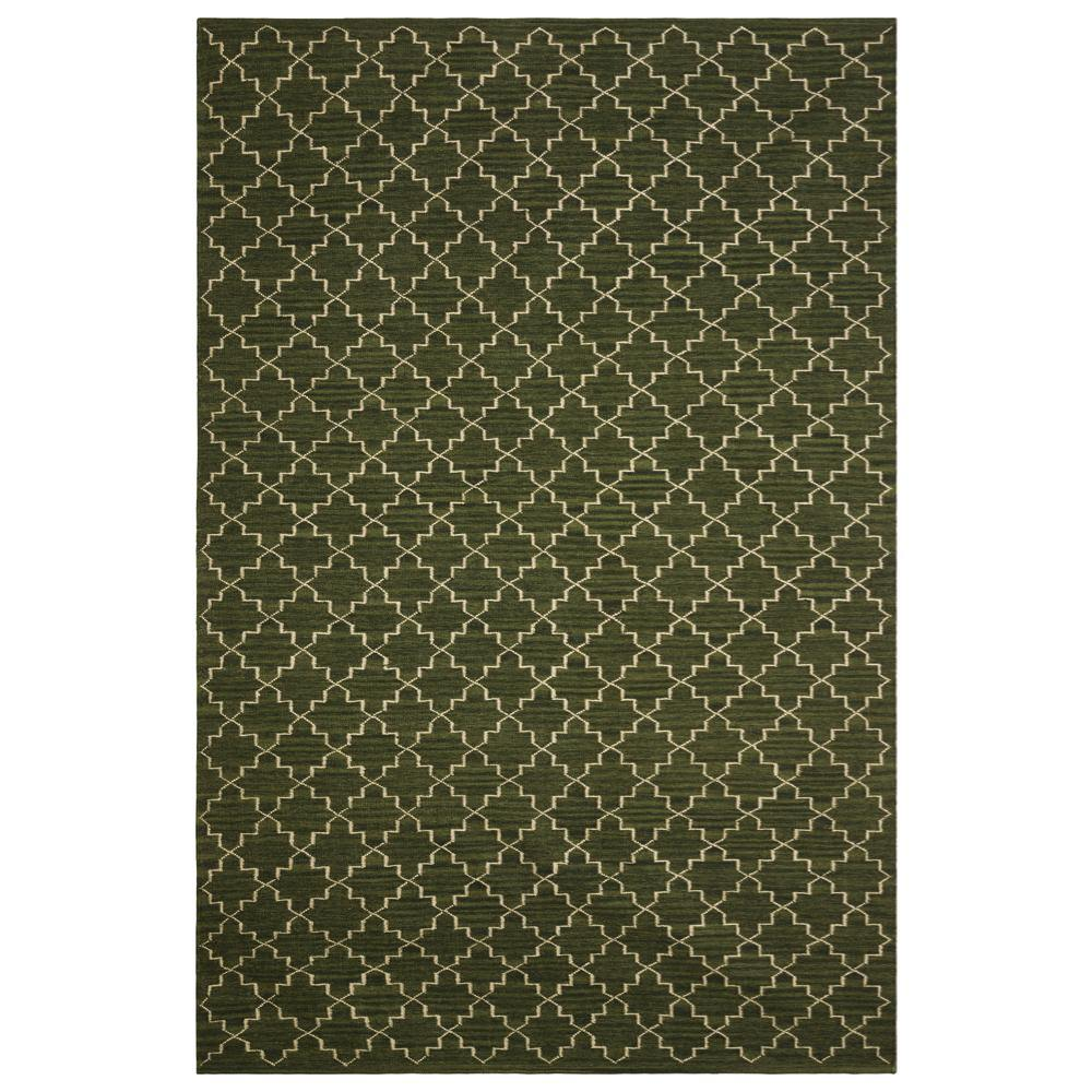 Carpet New Geometric, green / white, different sizes