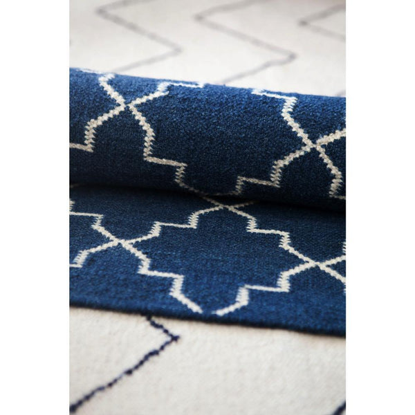 Carpet New Geometric, indigo / white, different sizes