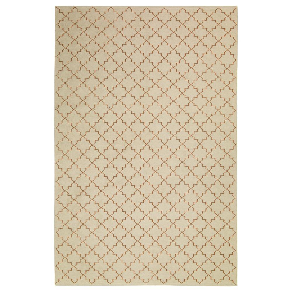 Carpet New Geometric, old white / orange, different sizes