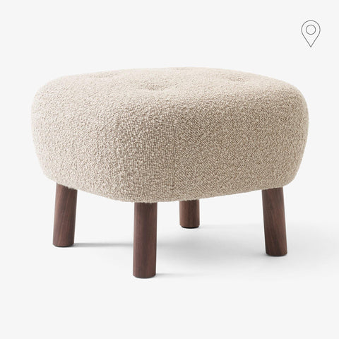 Tumba Little Petra ATD1, different fabrics and wood finishes - Nordic Design Home
