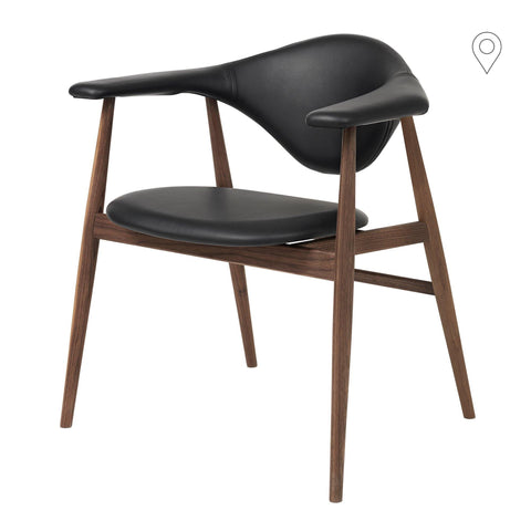 Dining chair Masculo, different fabrics and wood finishes - Nordic Design Home