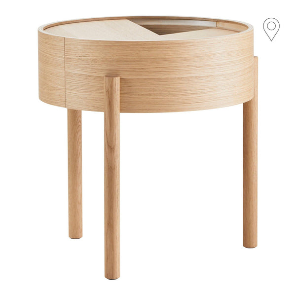 Sofa / side table Arc Ø42cm, different finishes