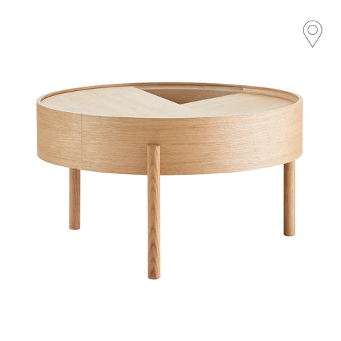 Coffee table Arc Ø66cm, different finishes
