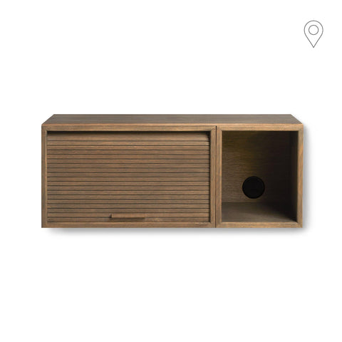 Wall cabinet Hifive Slim 75cm, different wood finishes - Nordic Design Home
