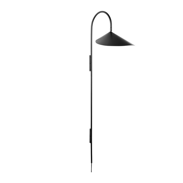 Wall lamp Arum long, black