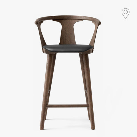 Bar stool In Between SK8, seat height 65cm, different fabrics and wood finishes - Nordic Design Home