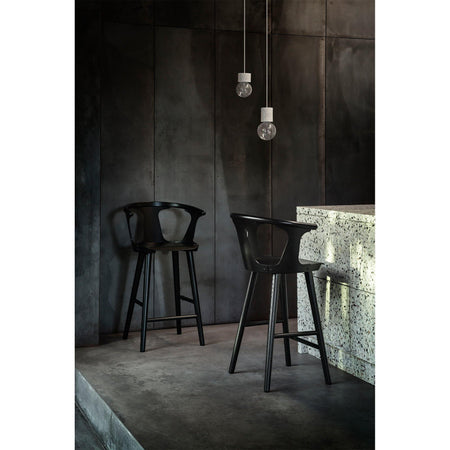 Bar stool In Between SK10, seat height 75cm, different fabrics and wood finishes - Nordic Design Home