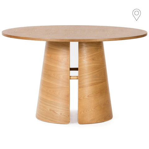 Dining table Cep Ø137cm, natural -30%