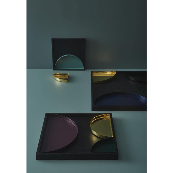 Tray Unity small crescent, brass AYTM Accessory - Nordic Design Home