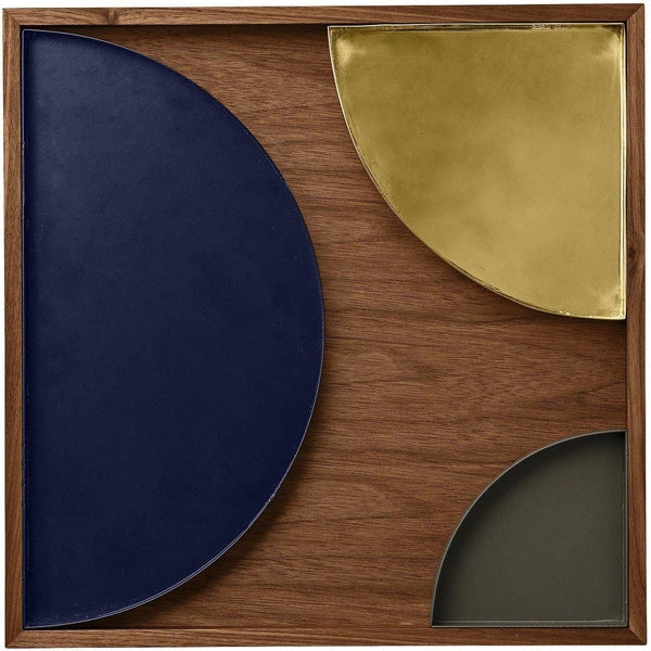 Tray Unity large crescent, blue AYTM Accessory - Nordic Design Home