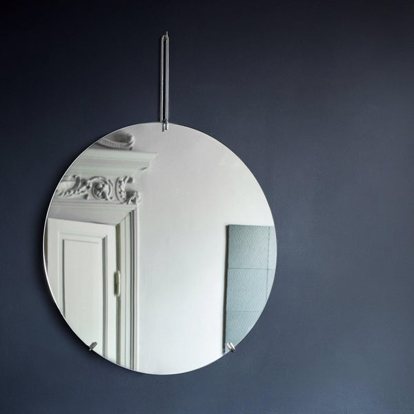 Mirror Wall Mirror Ø50, black
