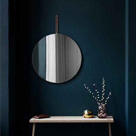 Mirror Wall Mirror Ø50, brass