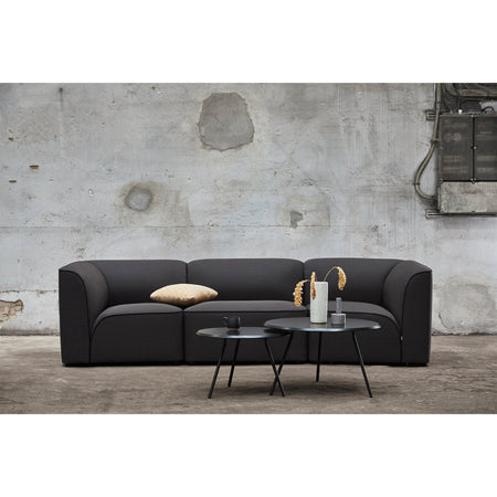 Soround coffee table black Ø75cm, different heights - Nordic Design Home