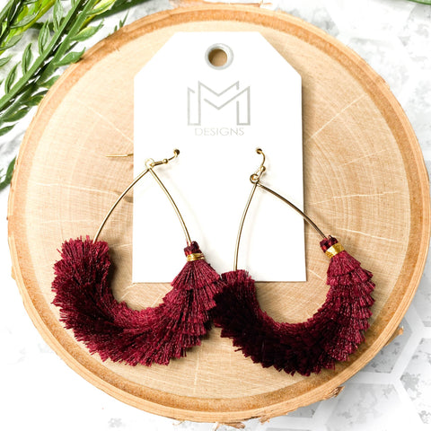 Cha Cha Earrings - Wine