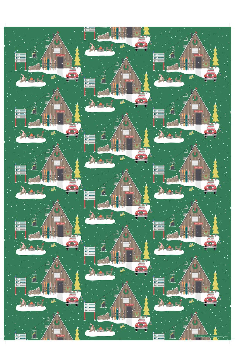 Hare's Lodge Christmas Gift Wrap Roll