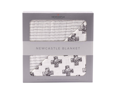 Newcastle Classics - Nordic Cross and Pencil Stripe Newcastle Blanket