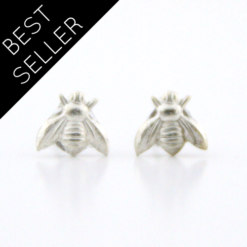 Peachtree Lane - Tiny Bees - Sterling Silver Earrings