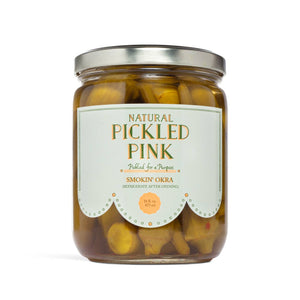Pickled Pink Foods - Smoking Okra Pickles