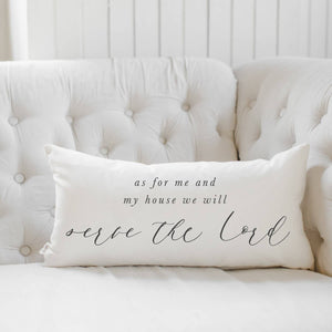 As For Me and My House Lumbar Pillow Cover