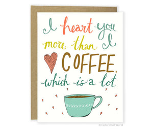 Heart Coffee Card