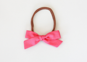 Pink School Girl Bow