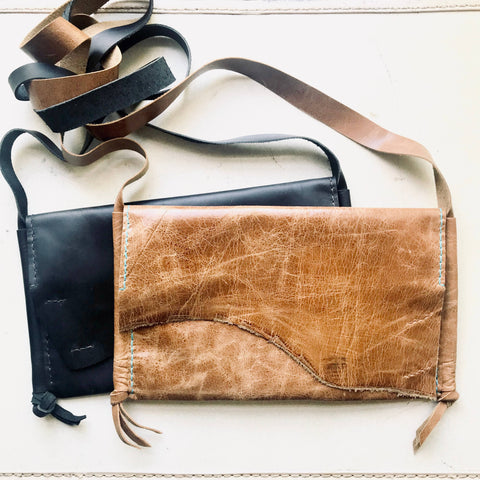 Elizabeth Leather Fold Over Crossbody
