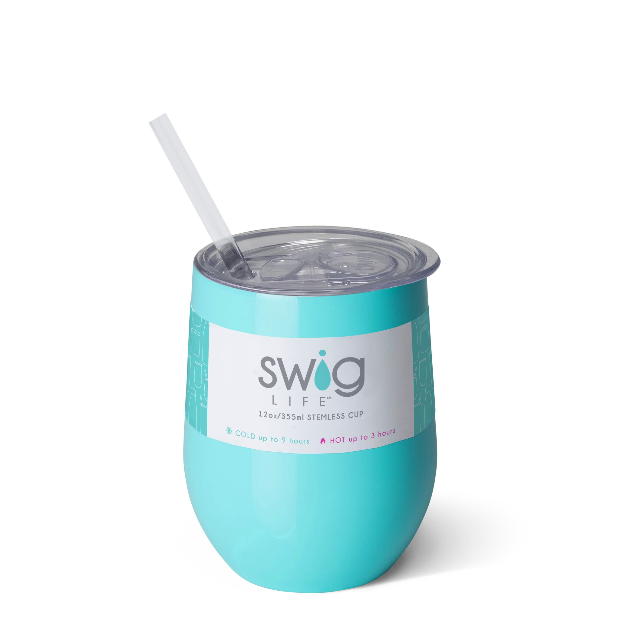 Swig Life - Ocean 12oz Wine with Slider Lid