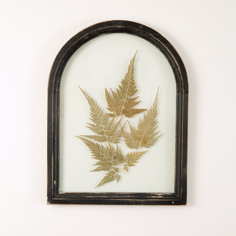 Black Arched Botanical Wall Decor