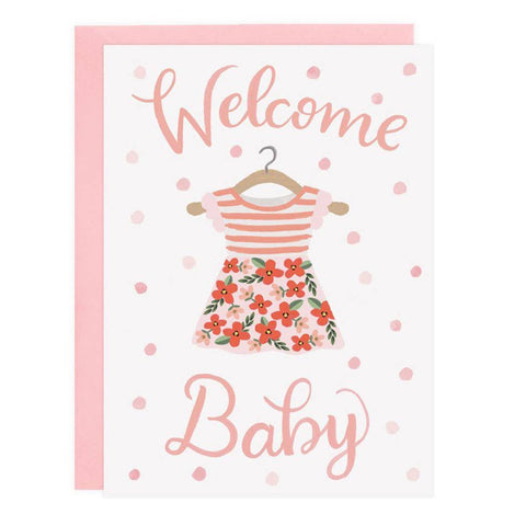 Welcome Baby - Card (Choice of Boy or Girl)