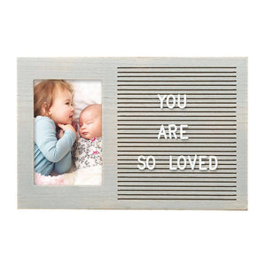 Letterboard Photo Frame, Gray