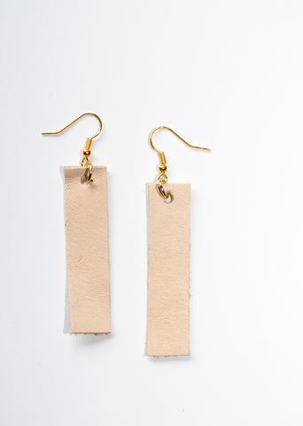Margaret Vera - Leather Bar Earrings