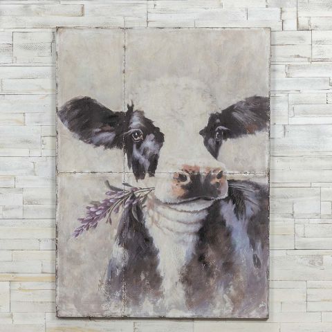 Metal Cow Painting