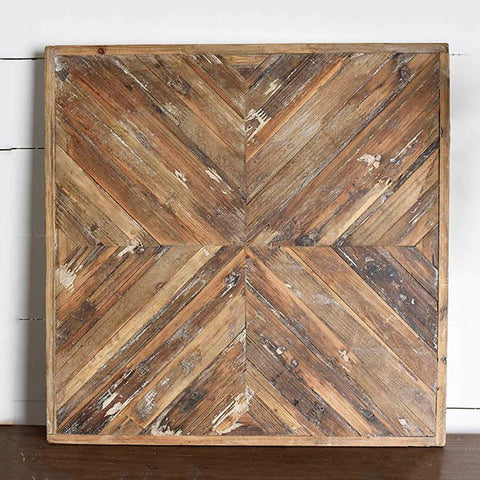 "24"" Reclaimed Wood Wall Decor"